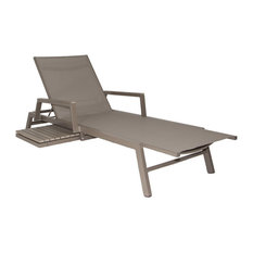 Patio Heaven - Riviera Outdoor Lounger Gray - Outdoor Chaise Lounges  sc 1 st  Houzz : modern patio chaise lounge - Sectionals, Sofas & Couches