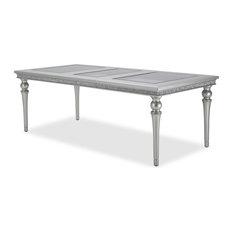 AICO Melrose Plaza Leg Dining Table, Dove 9019000-118