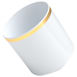 Coffee Afloat Porcelain Cup, Gold Ring