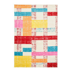 Whimsical Sliding Squares Indoor Area Rug, 5'x7'