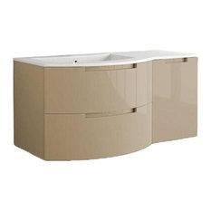 "Latoscana Oasi 53"" Modern Sand Glossy Bathroom Vanity"