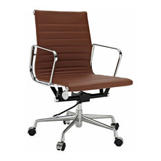 group contemporary office modern interiors aluminum group midback real leather office chair light brown 50 most popular stainless steel chairs for 2018 houzz