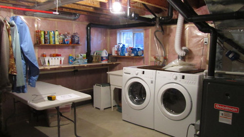 Unfinished Basement Needs A Laundry Room
