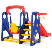 Goplus 3 in 1 Junior Children Climber Swing Basketball Hoop Playset Backyard