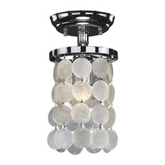 1 Light Capiz Shell Flush Mount
