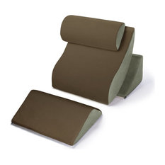 Avana Kind Bed Orthopedic Support Pillow Comfort System, Mocha and Sage