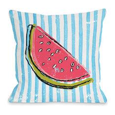 """Whatthemelon"" Indoor Throw Pillow by OneBellaCasa, 16""x16"""