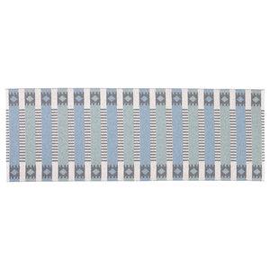 Marta Woven Vinyl Floor Cloth, Blue and Green, 150x200 cm