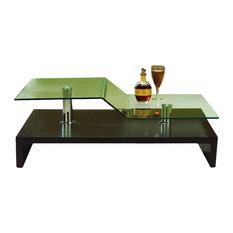 Bent Glass Coffee Table, Wenge