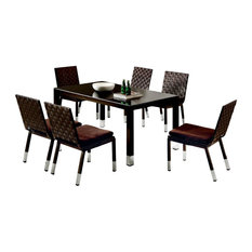 Taco Modern Outdoor Dining Set For 6