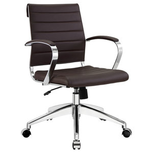 Jive Mid-Back Office Chair in Brown