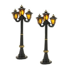 Village Cross Product Victorian Street Lamps, Set of 2