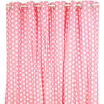 Pam Grace Creations - Shower Curtain, Pink, 72x72 - Shower in style with our cotton curtains.  Colorful, bold patterns will liven up your decor while the bracketed eyelets make this shower curtain easy to hang.