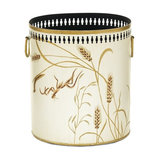 Dragonfly Waste Paper Bin With Handles, Ivory