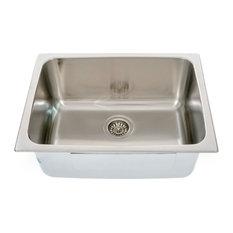"Italia Lavendaria Series 24"" Dual Mount Stainless Steel Laundry Sink"