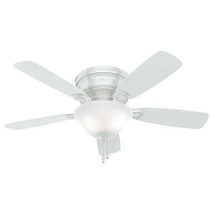Hunter Fan Company 48 Low Profile White Ceiling With Light
