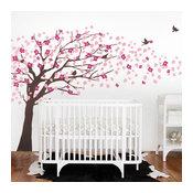 "Cherry Blossom Tree, Elegant Style, Color Scheme B, 148""x87"""