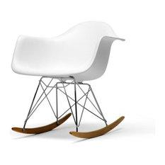 Great Baxton Studio   Modern White Rocking Chair Rocker Replica   Rocking Chairs