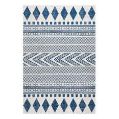 Southwestern Tribal Bands, Blue, 8'x10'