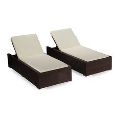 Modern outdoor chairs houzz for Ariel chaise lounge