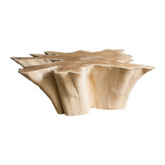 Star Natural Wood Coffee Table, Large