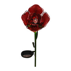 Smart Solar Red Rose Border Light, Solar Powered