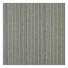 Blue Green And Ivory Striped Country Tweed Upholstery Fabric By The Yard