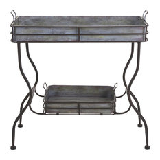 Maggie Galvanized Tray Table