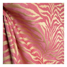 the fabric co - Serengeti Hot Pink Animal Print Chenille Upholstery Fabric, Sample - Drapery Fabric