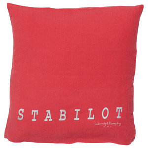 Molly Linen Scatter Cushion, Red