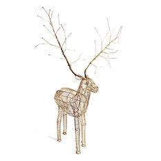 - Renne Décoration de Noël renne doré - Figurine et Village