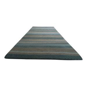 Handloom Multi Stripe Rug, Aqua, 200x300 cm