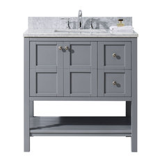 "Winterfell 36"" Single Bathroom Vanity Cabinet Set, Gray"