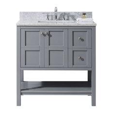 Winterfell 36-inch Single Bathroom Vanity Cabinet Set Gray