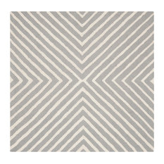 Safavieh Cambridge Hand Tufted Rug, Silver and Ivory, 10' Square
