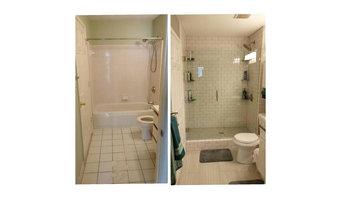 Bathroom transformation, condo Atlanta