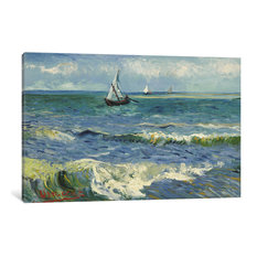 """Seascape Near Les Saintes Maries De La Mer"" Wrapped Canvas  Print, 26x18x0.75"