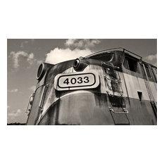 Seaboard Railroad Diesel Locomotive 4033 Black and White Fine Art Photography, 2