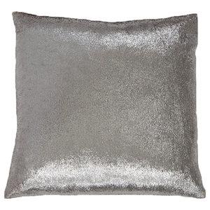 Silver Shimmer Metallic Cushion