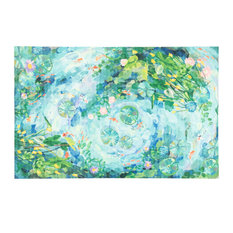 "Liora Manne Illusions Peaceful Pond Indoor/Outdoor Mat, Seafoam, 39""x59"""