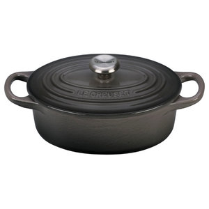 Le Creuset Signature Oyster Enameled Cast Iron 1 Quart Oval French Oven