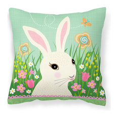 Easter Bunny Rabbit Fabric Decorative Pillow