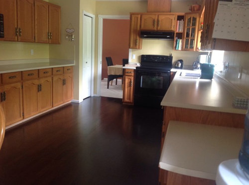 economical way to update kitchen without replacing oak. Black Bedroom Furniture Sets. Home Design Ideas