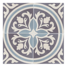 """8""""x8"""" Mia Handcrafted Cement Tile, Box of 12"""