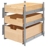 """Rev-A-Shelf - Wood Pilaster System Kit, 16.31""""w X 21.62""""d X 22.75""""h - Rev-A-Shelf has introduced a truly customized pilaster system. Truly the ultimate when it comes to flexibility.  The pilaster system is completely adjustable to work with different cabinet openings and works around hinges. This unit features:"""