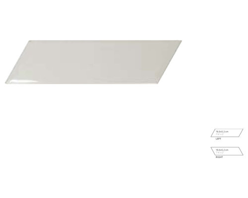 Chevronwall Light Grey Left/Right - Tile