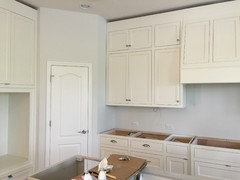 Help My New Antique White Kitchen Cabinets Look Yellow