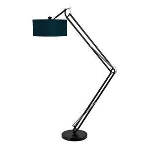 Milano Floor Lamp With Black Frame