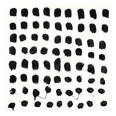 """Black And White E Fine Art Giant Canvas Print, White, Black, 54""""x54"""""""
