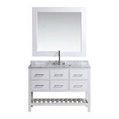 "London Vanity Set, 48"", Single Sink, White"